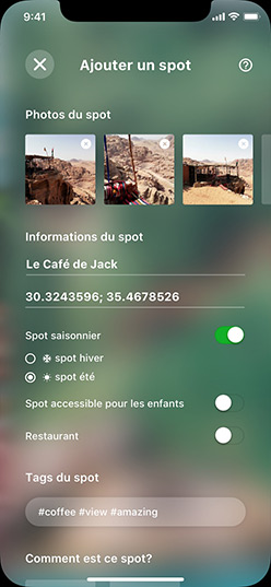 App Bobee Spot Ajouter